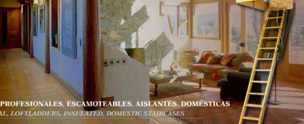 Escaleras profesionales, escamoteables, aislantes, domésticas